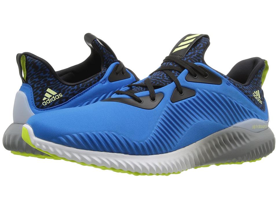 adidas Running Alpha Bounce (Shock Blue/Ice Yellow/Light Grey) Men