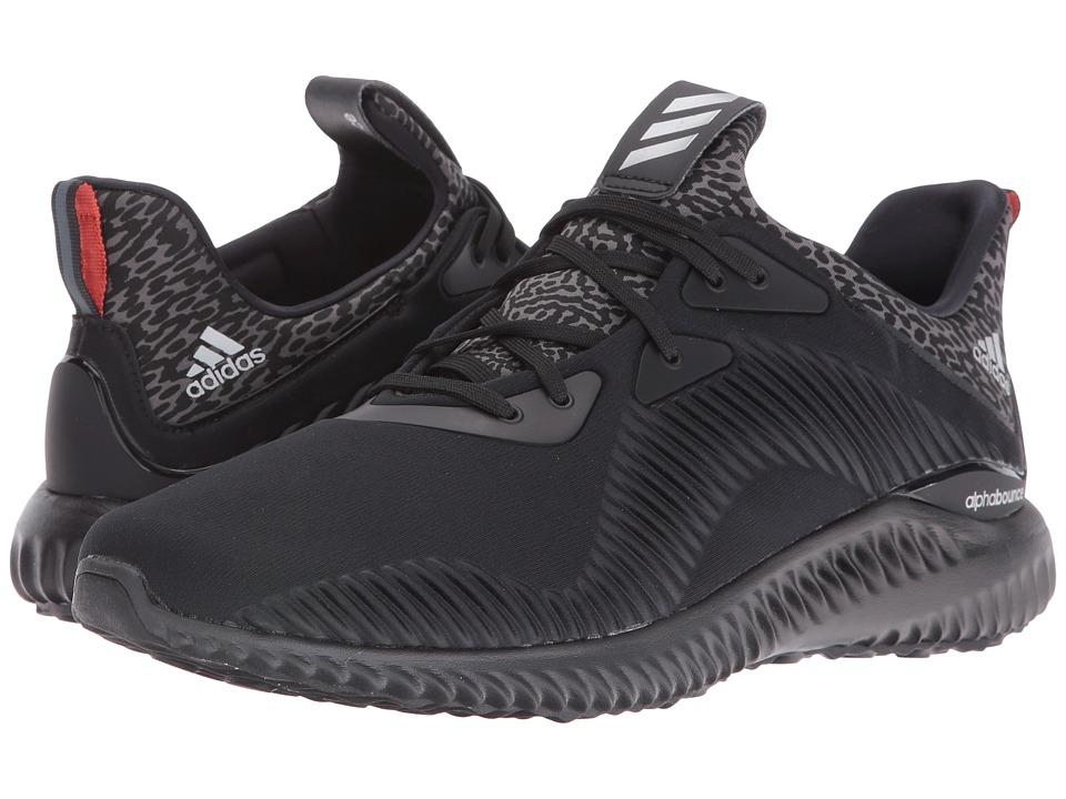 Image of adidas Running - Alpha Bounce (Black/Silver Metallic/Granite 1) Men's Running Shoes