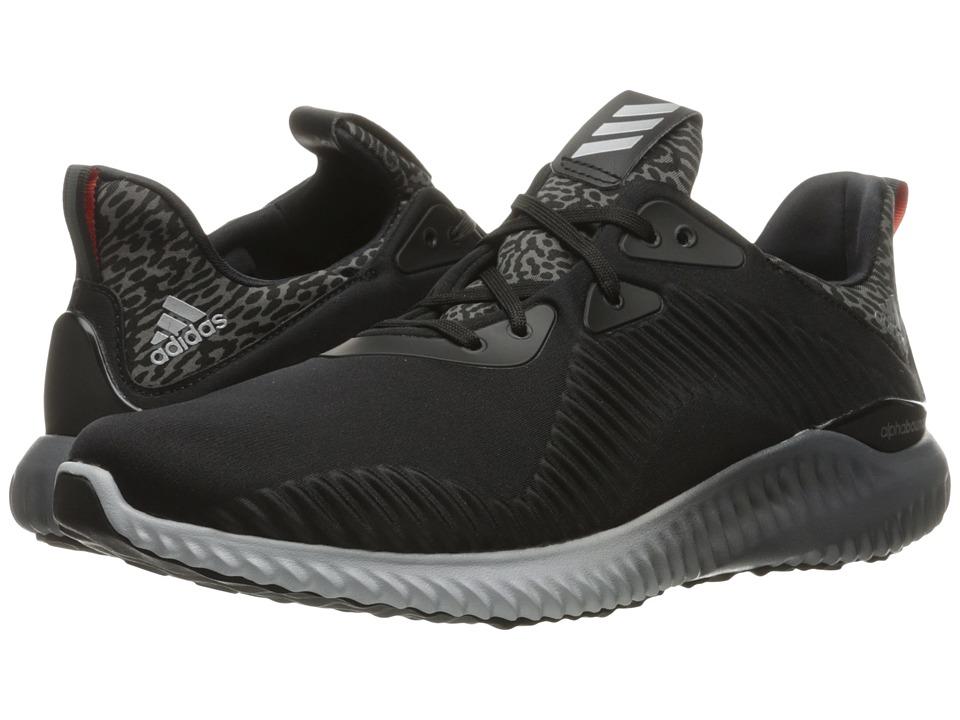 adidas Running - Alpha Bounce (Black/Silver Metallic/Granite) Men