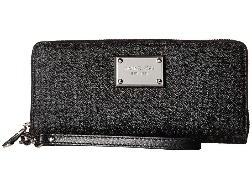 MICHAEL Michael Kors - Jet Set Item Travel Continental (Black) Continental Wallet