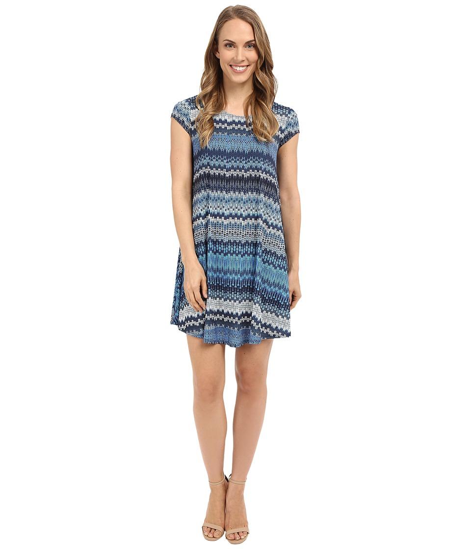 Karen Kane Blue Mesa Maggie Trapeze Dress Print Womens Dress