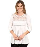 Karen Kane - Crochet Trim Top