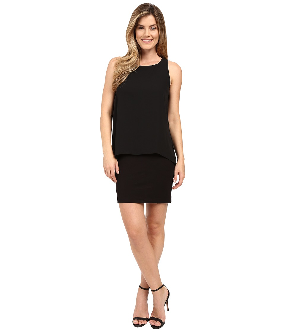 Karen Kane Hallie Double Layer Dress Black Womens Dress
