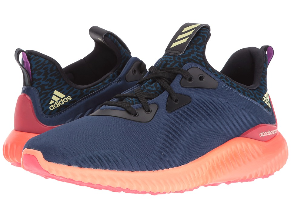 adidas Running Alphabounce (Mineral Blue/Ice Yellow/Sun Glow) Women