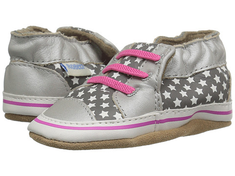 Robeez Trendy Trainer Soft Sole (Infant/Toddler) - Silver