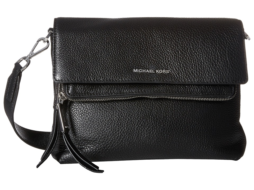 MICHAEL Michael Kors - Ezra Medium Messenger (Black) Messenger Bags