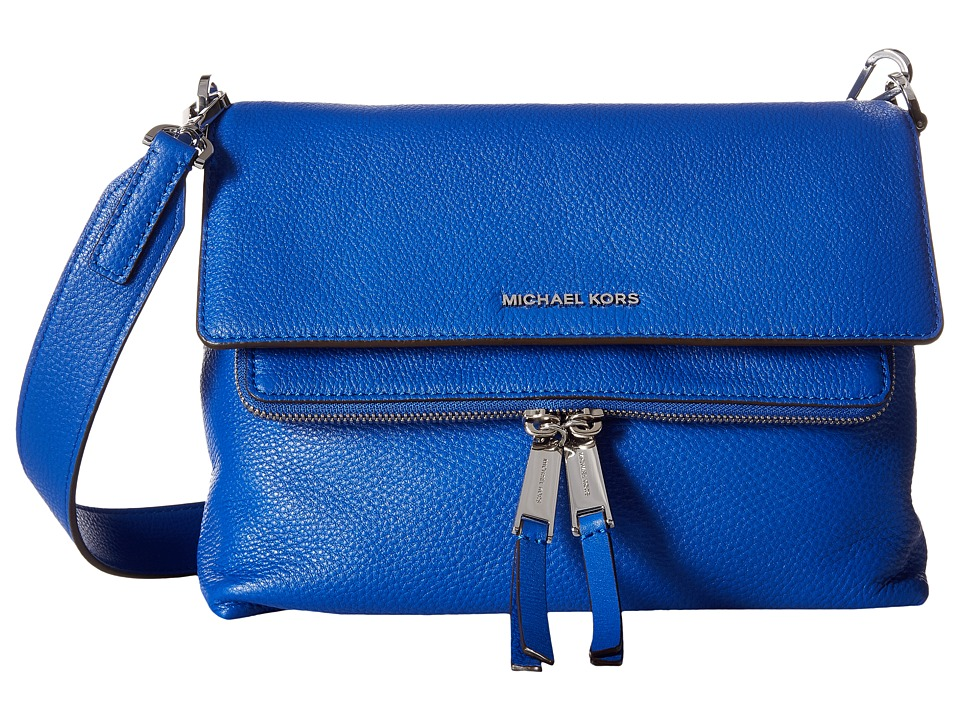 MICHAEL Michael Kors - Ezra Medium Messenger (Electric Blue) Messenger Bags