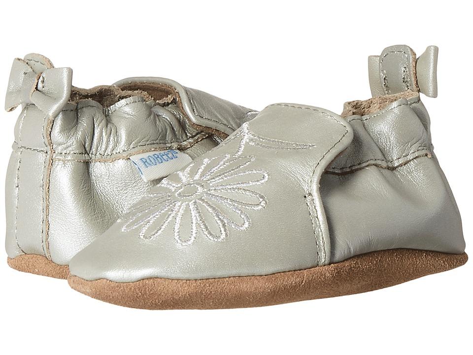 Robeez - Metallic Mist Soft Sole (Infant/Toddler) (Silver) Girls Shoes