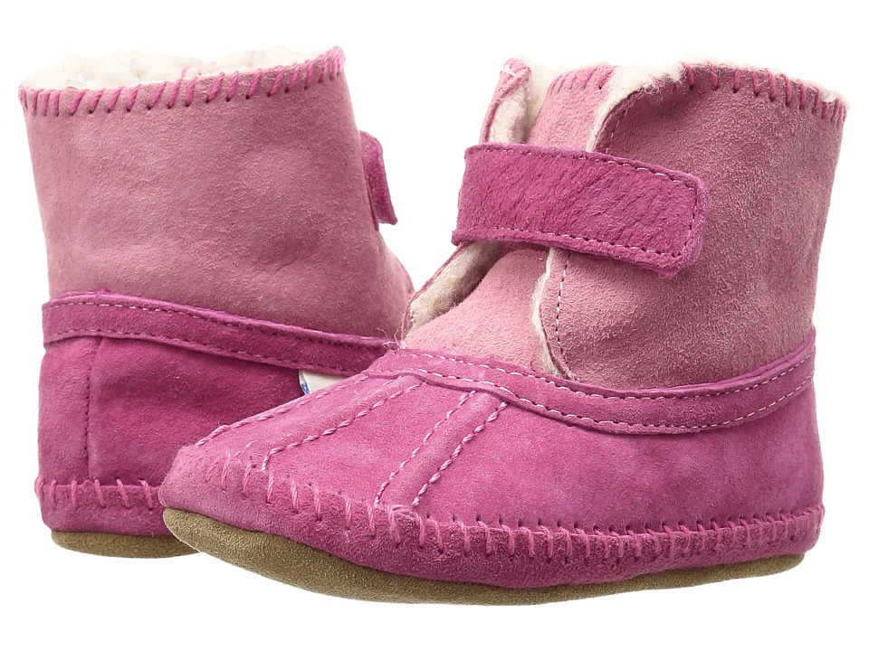 Robeez - Galway Cozy Bootie Soft Sole (Infant/Toddler) (Pink) Girls Shoes