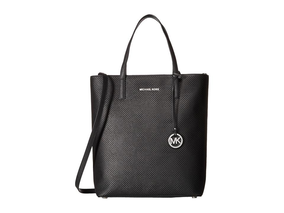 MICHAEL Michael Kors - Hayley Large North/South Top Zip Tote (Black) Tote Handbags