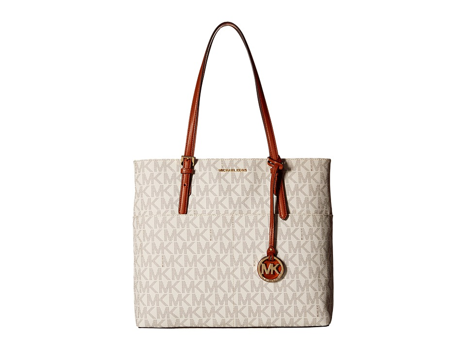 MICHAEL Michael Kors - Bedford Large Pocket Tote (Vanilla) Tote Handbags