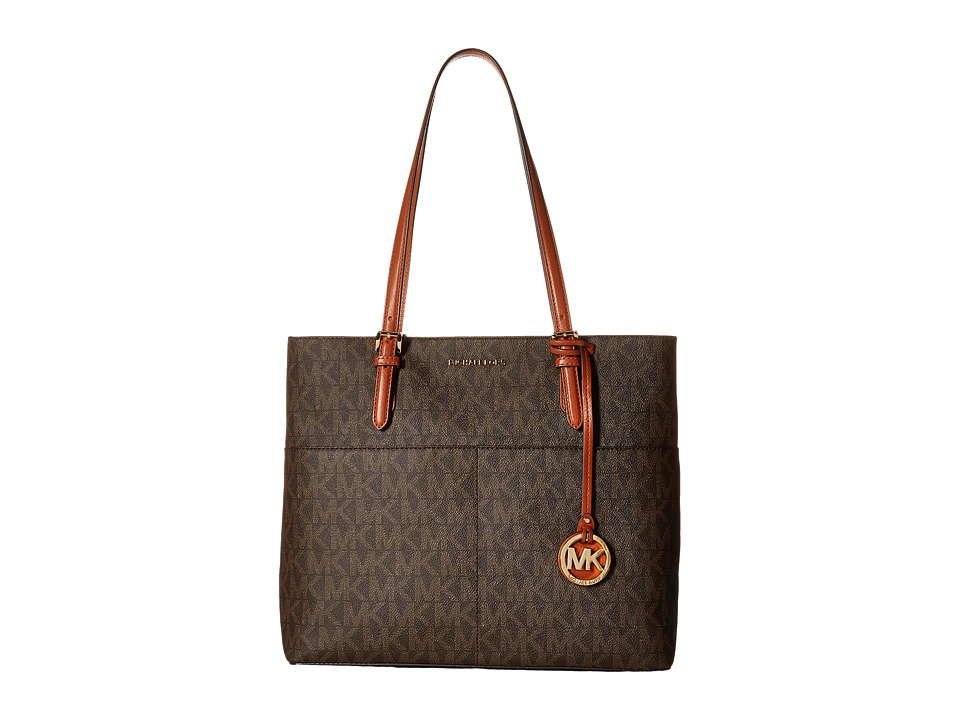 MICHAEL Michael Kors - Bedford Large Pocket Tote (Brown) Tote Handbags