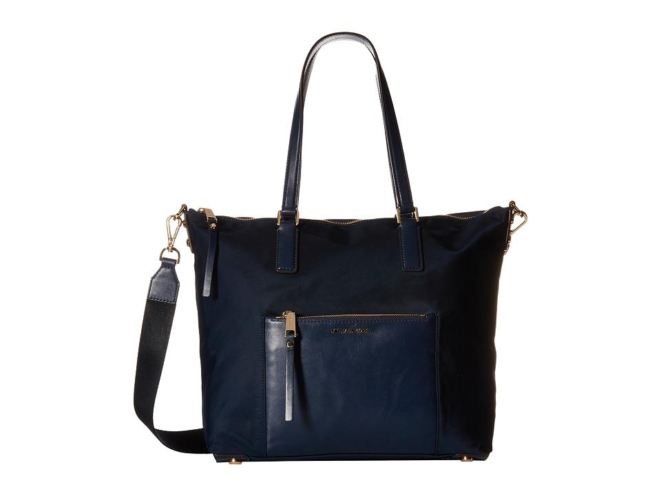 MICHAEL Michael Kors - Ariana Large Tote (Navy) Tote Handbags
