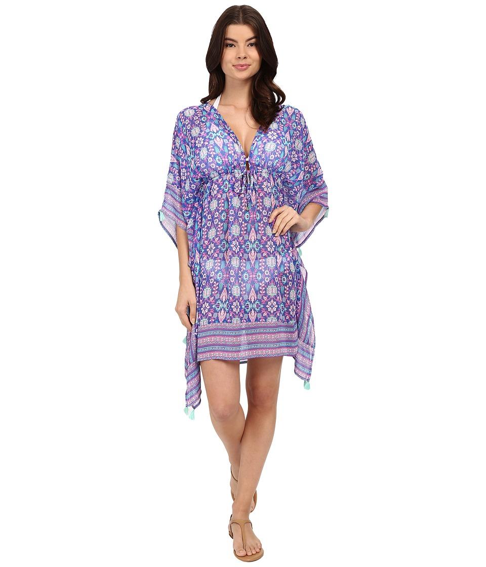 Bleu Rod Beattie California Dreamin Caftan Cover Up Mint Multi Womens Swimwear