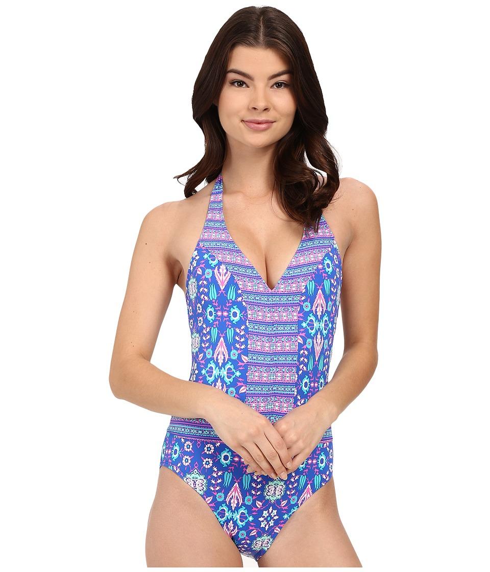 Bleu Rod Beattie California Dreamin Halter One Piece Mint Multi Womens Swimsuits One Piece