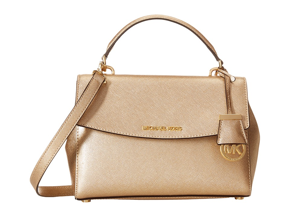 MICHAEL Michael Kors - Ava Small Top-Handle Satchel (Pale Gold) Satchel Handbags