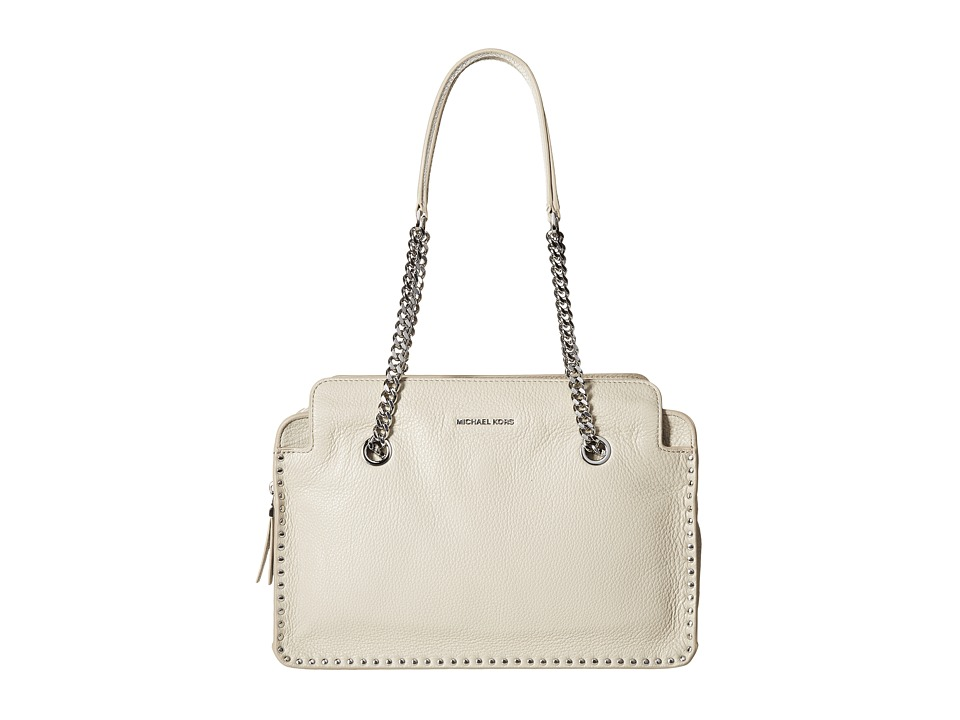 MICHAEL Michael Kors - Astor Large Satchel (Cement) Satchel Handbags