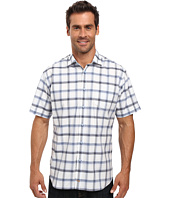 Thomas Dean & Co. - Short Sleeve Woven Windowpane Plaid