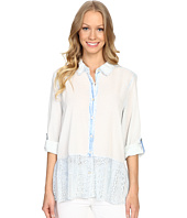 Dylan by True Grit - Washed Vintage Cotton Mia Blouse with Lace Hem