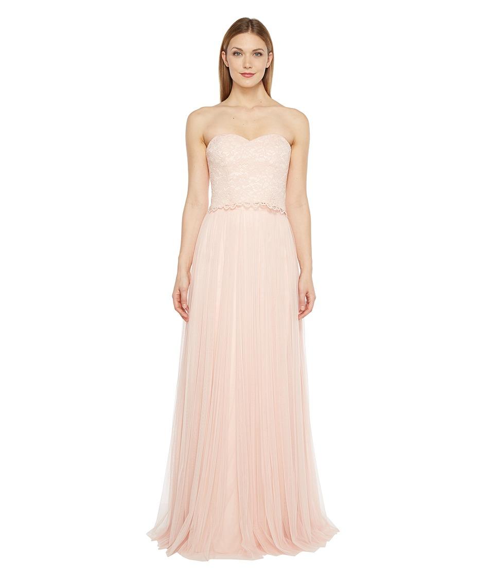 Donna Morgan Adeline Strapless Top Skirt (Pearl Pink) Women