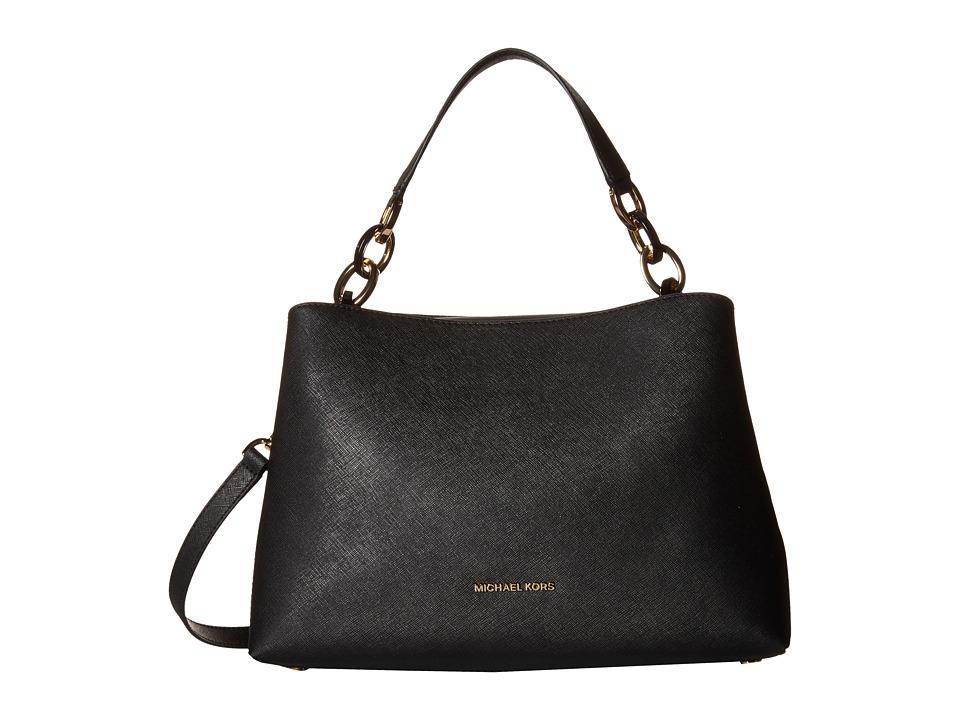 MICHAEL Michael Kors - Portia Large East/West Shoulder (Black) Shoulder Handbags
