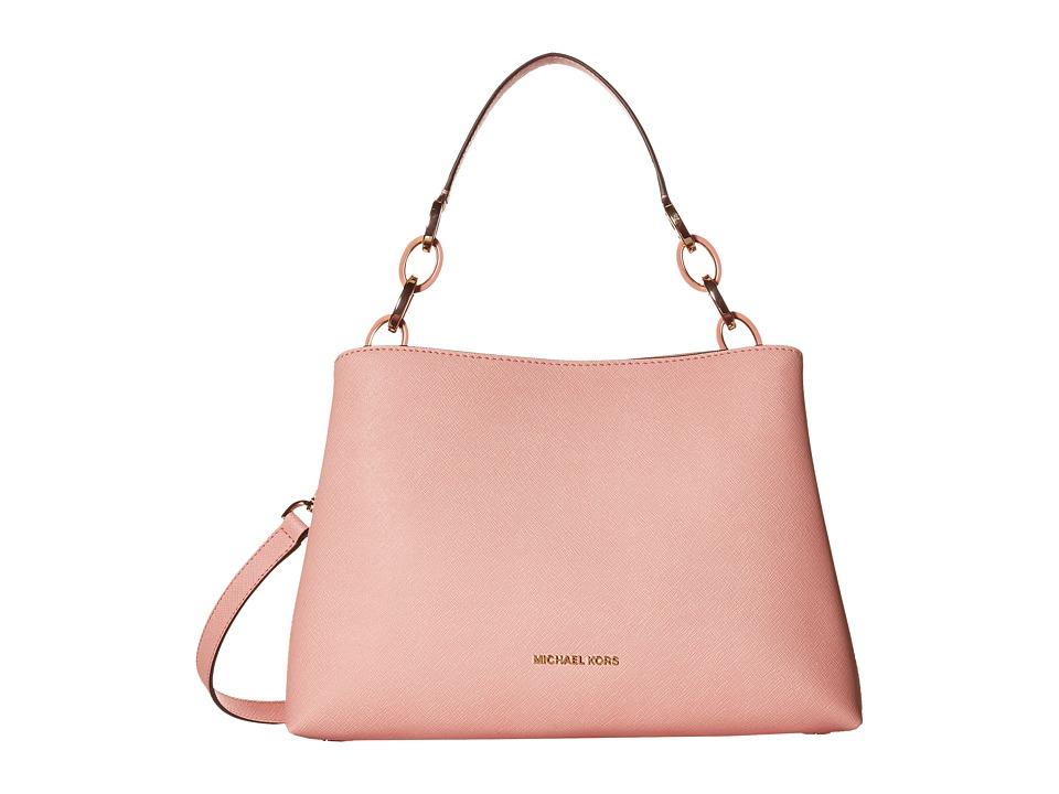 MICHAEL Michael Kors - Portia Large East/West Shoulder (Pale Pink) Shoulder Handbags