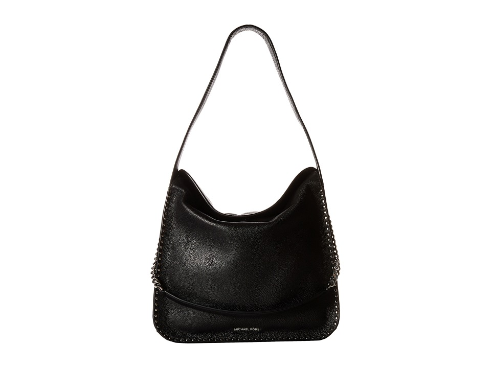 MICHAEL Michael Kors - Astor Large Hobo (Black) Hobo Handbags