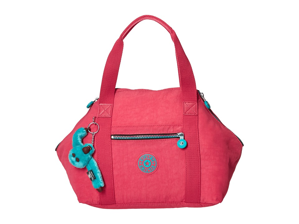 Kipling Art Satchel Vibrant Pink Satchel Handbags