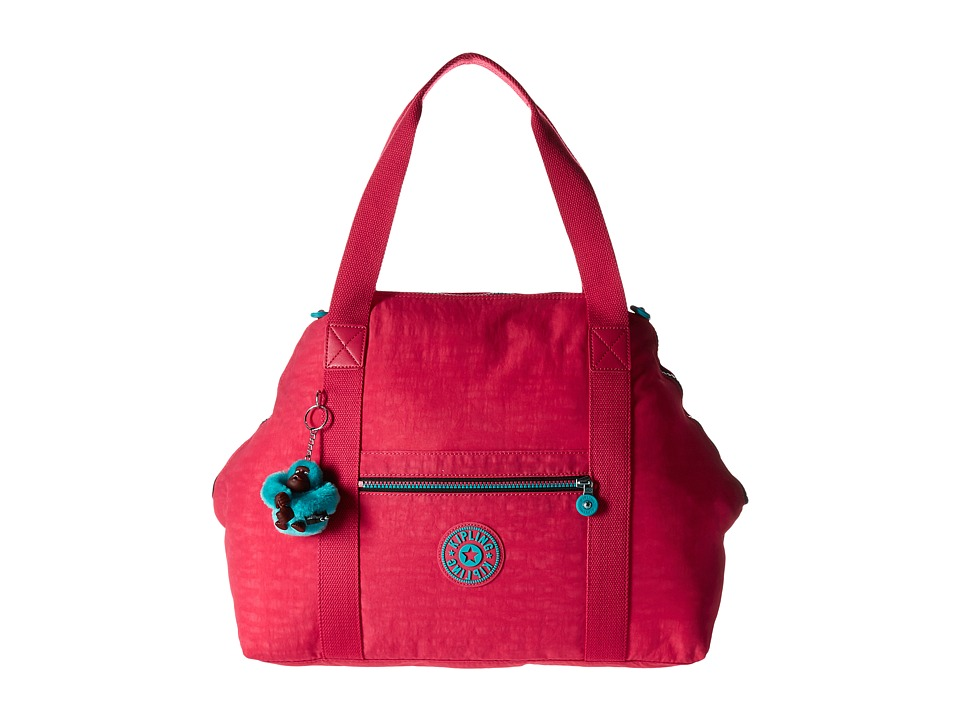 Kipling Art Large Satchel Vibrant Pink Satchel Handbags