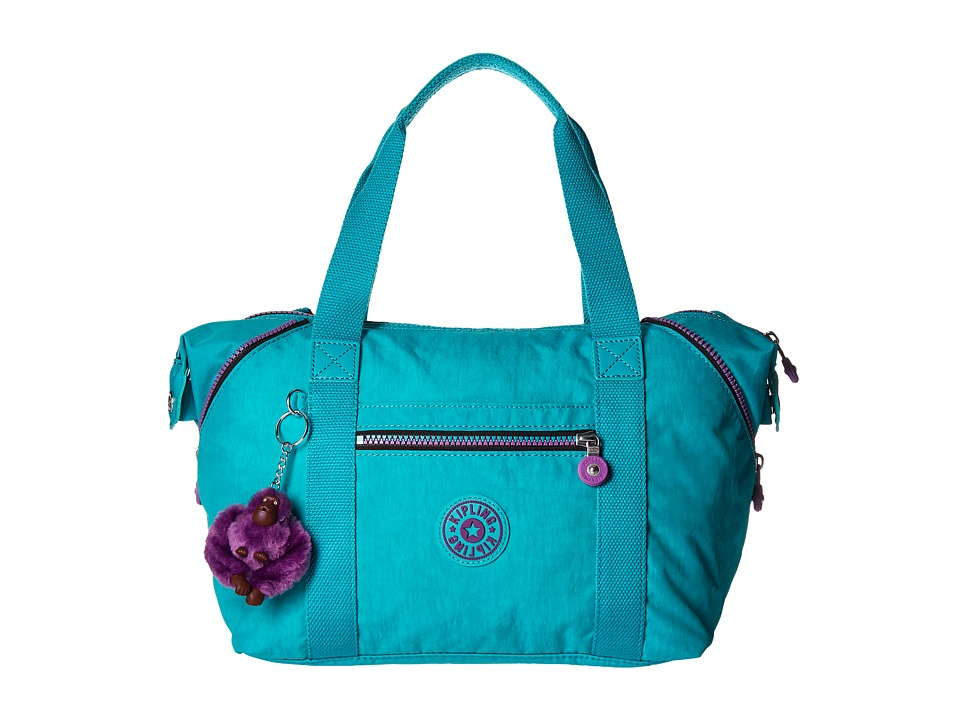 Kipling Art Satchel Cool Turquoise Satchel Handbags
