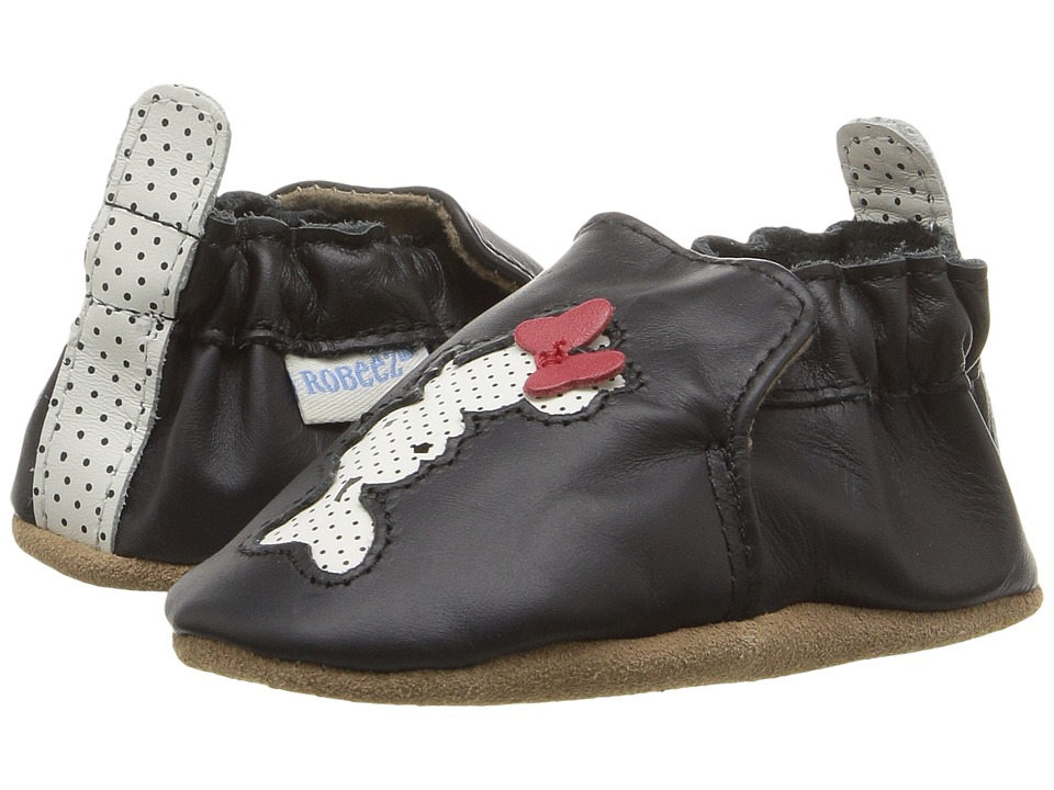Robeez Disney Baby by Robeez Minnie Soft Sole (Infant/Toddler) (Black) Girls Shoes