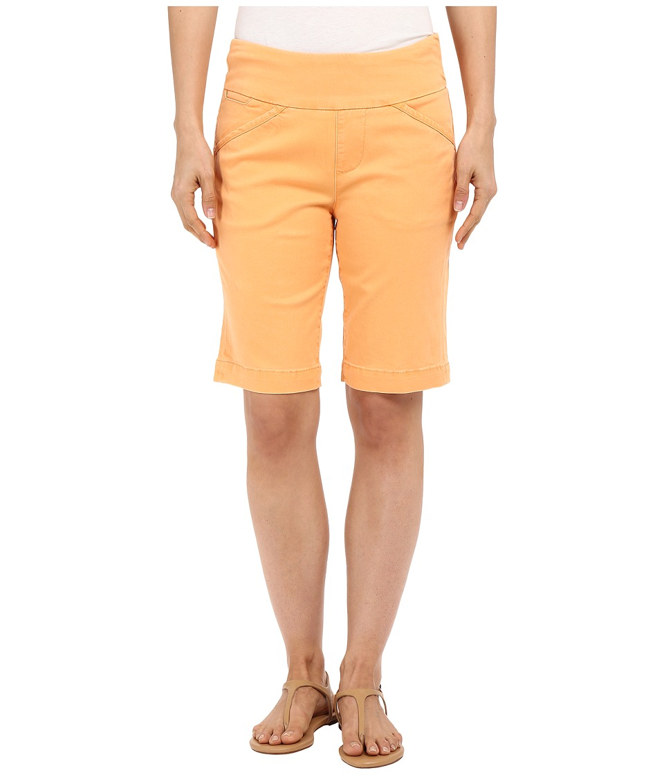 Jag Jeans Ainsley Bermuda Classic Fit Bay Twill Citrus Orange Womens Shorts