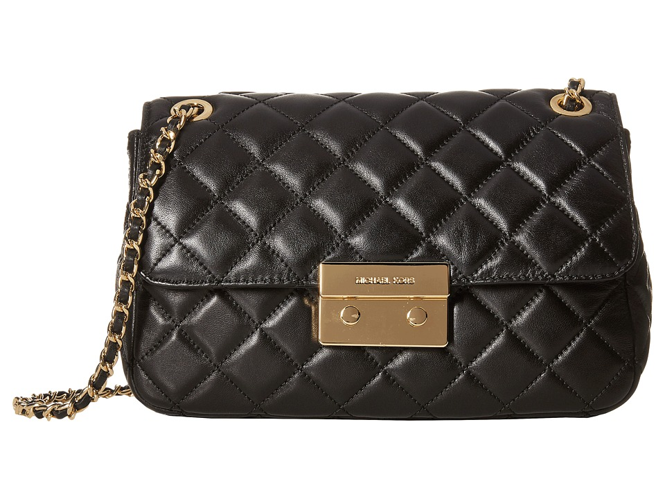 MICHAEL Michael Kors - Sloan Large Chain Shoulder (Black) Shoulder Handbags