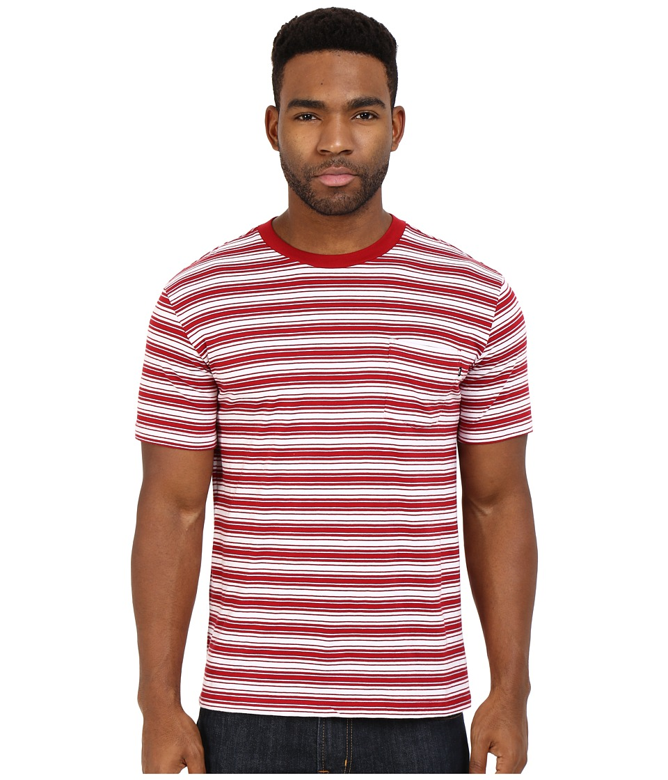 Obey - Chico Pocket Tee (Red Multi) Men
