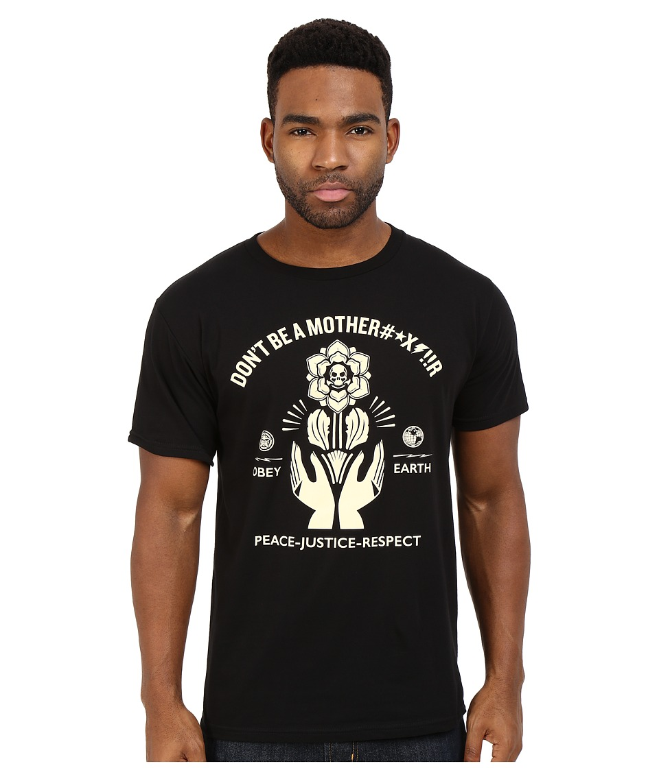 Obey Premium Motherfr Tee Black Mens T Shirt