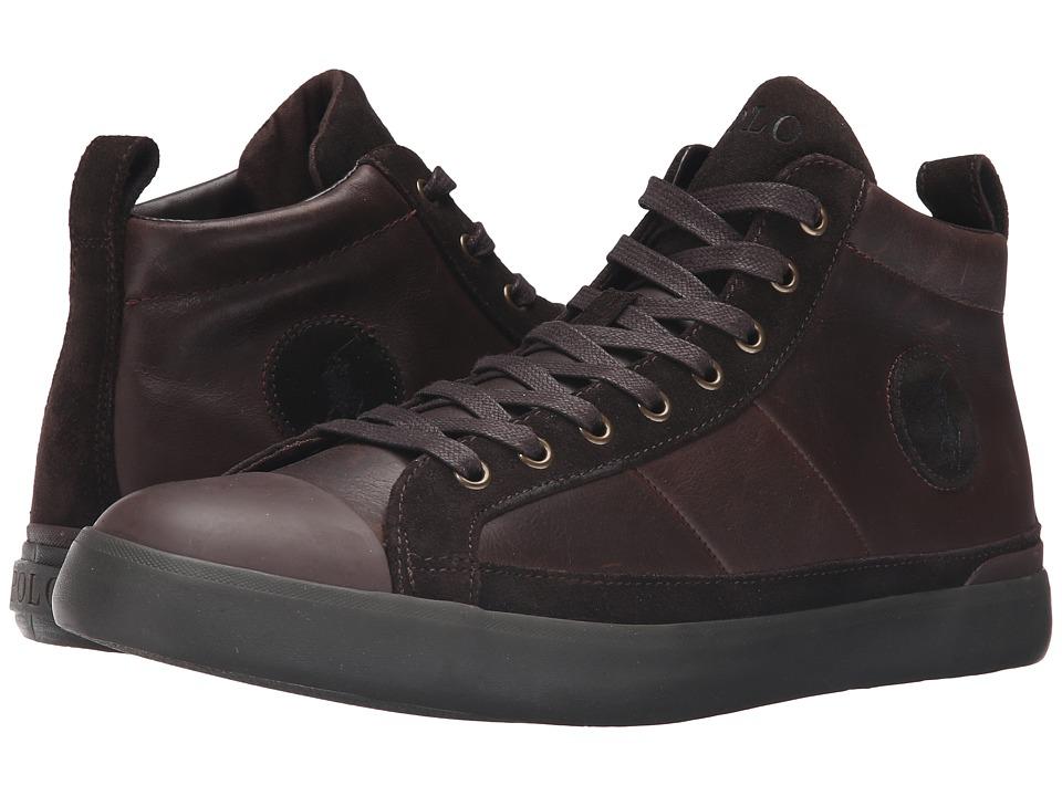 Polo Ralph Lauren Clarke (Dark Brown Smooth Oil Leather/Sport Suede) Men