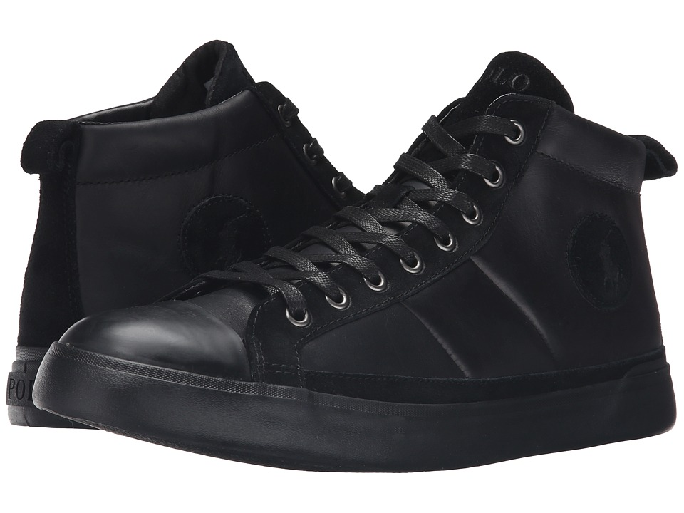 Polo Ralph Lauren Clarke (Black Smooth Oil Leather/Sport Suede) Men