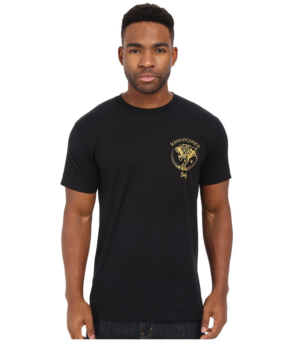 Obey Raw Power Tiger Premium Tee Black Mens T Shirt