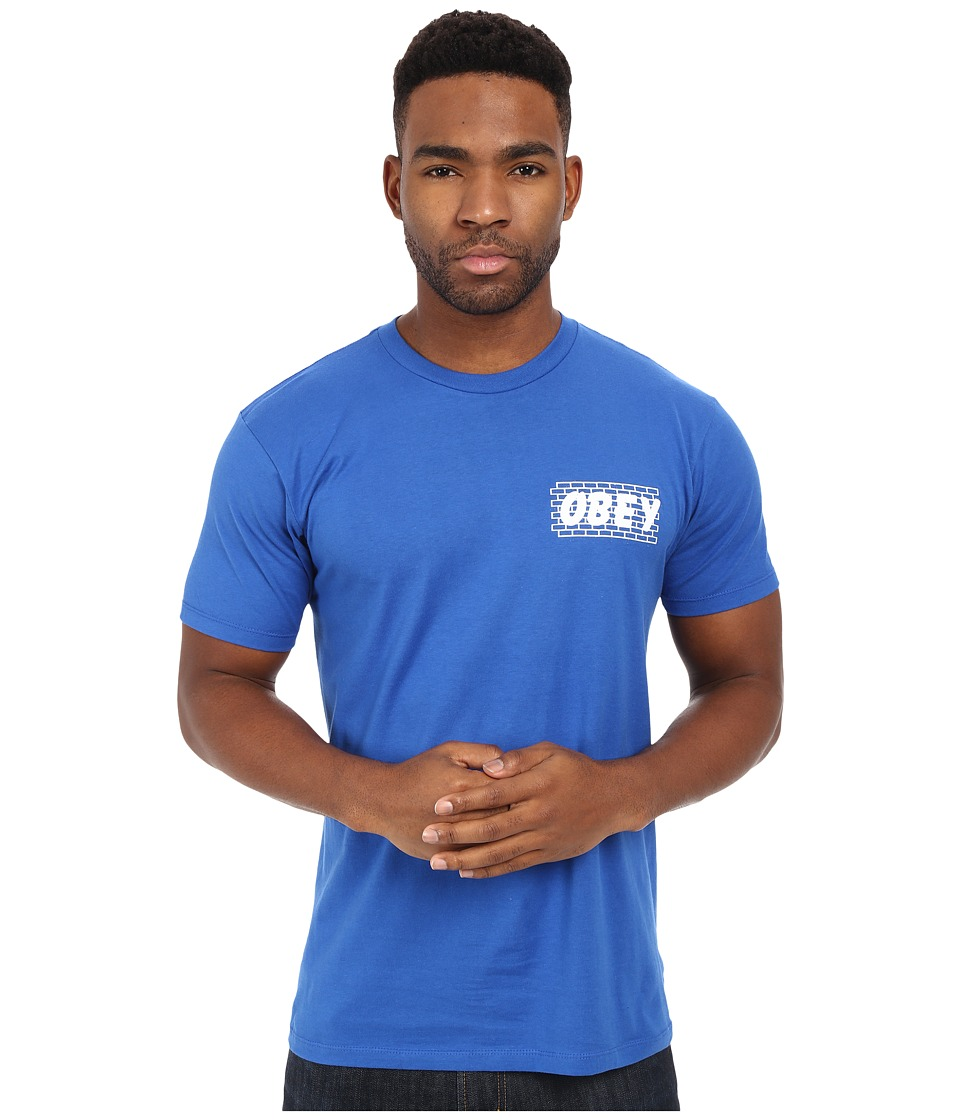 Obey Brickwall Premium Tee Royal Blue Mens T Shirt