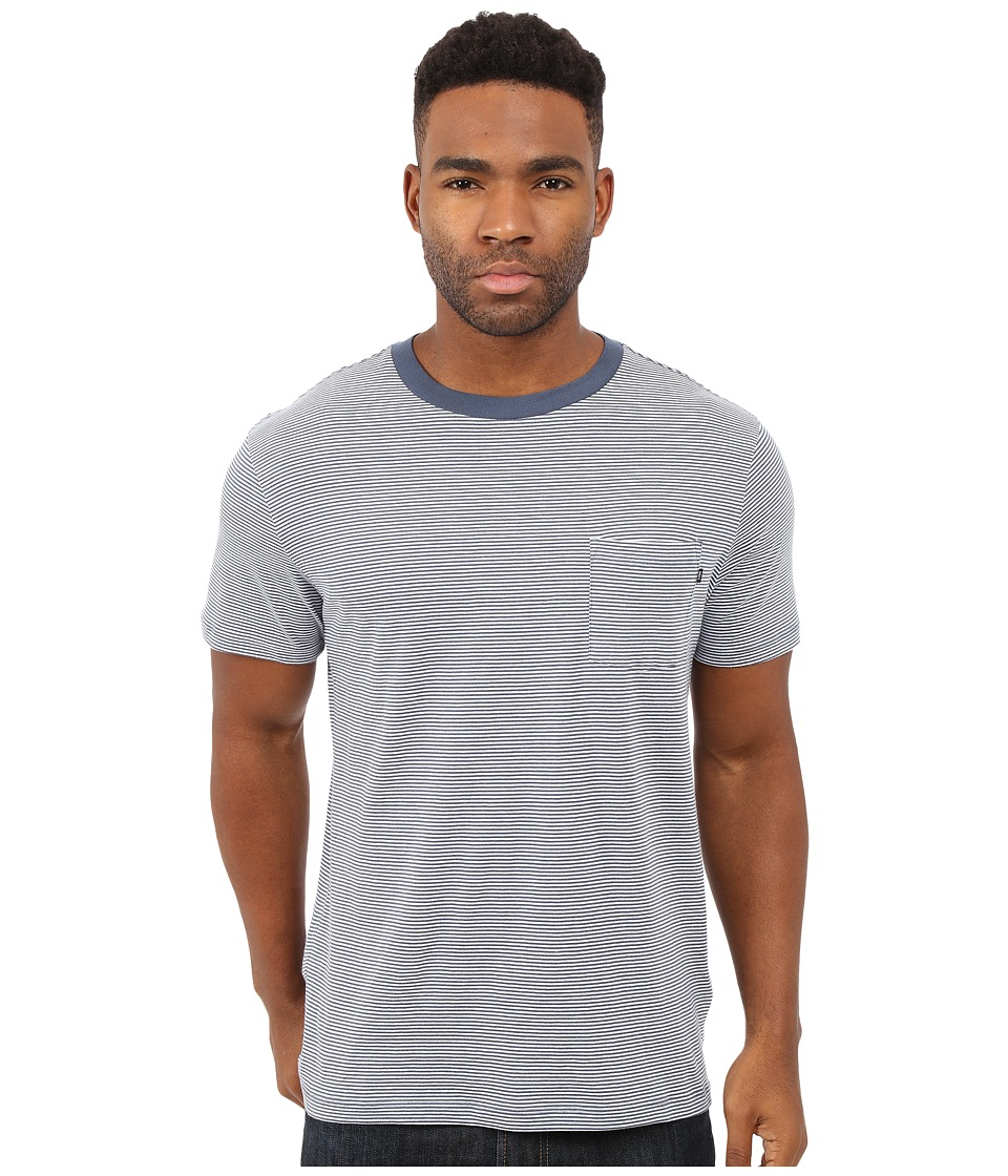 Obey Wisemaker Pocket Tee Navy Multi Mens T Shirt