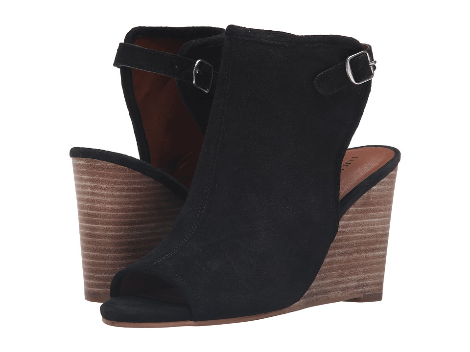 Lucky Brand - Risza (Black Oil Suede) Women