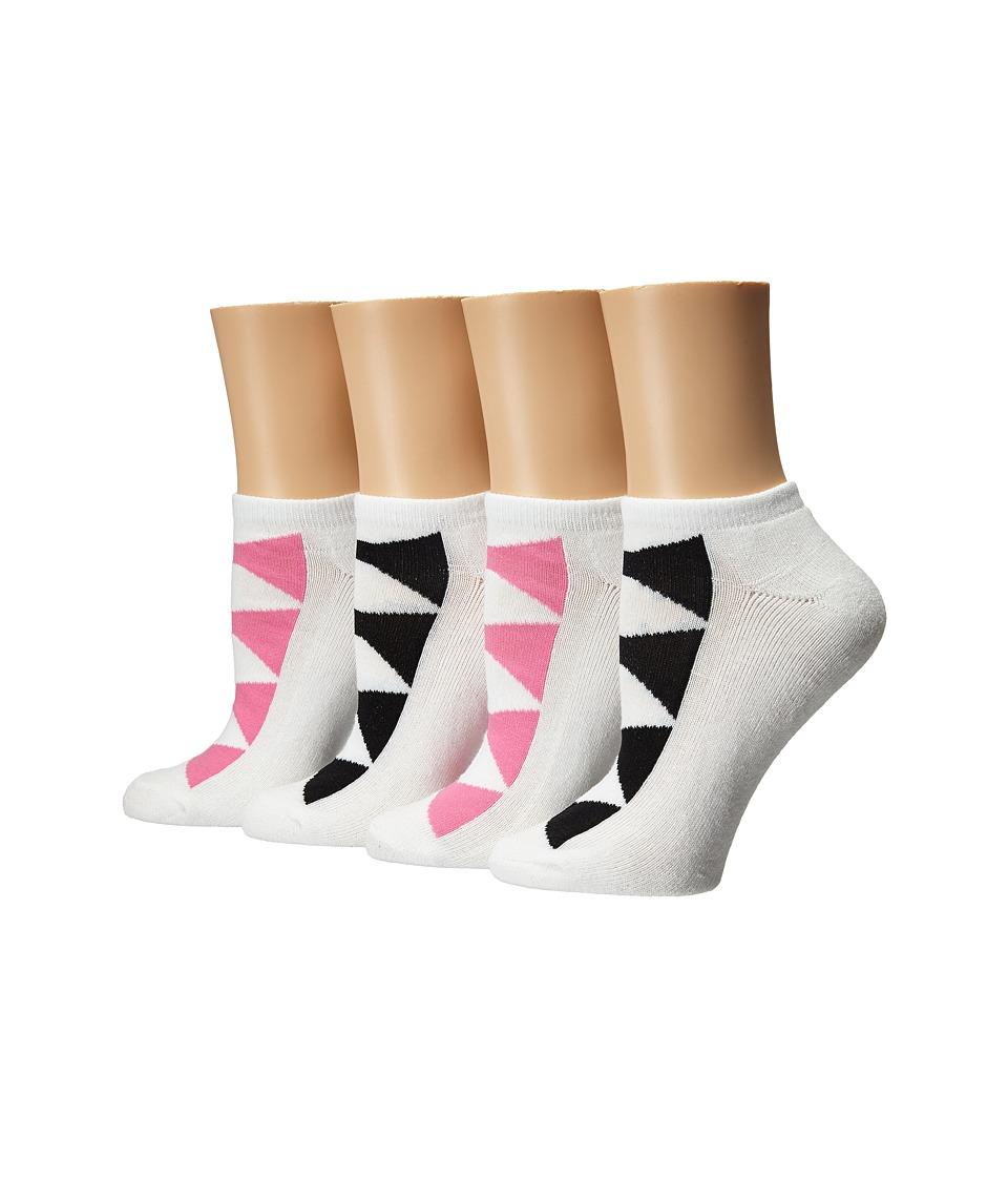 Kate Spade New York - 4-Pack Ped Socks (Black 2) Women