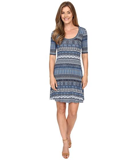 Karen Kane Mosaic Stripe T-Shirt Dress