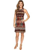 Karen Kane - Border Print Halter Dress