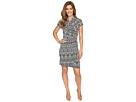 Short Sleeve Cascade Wrap Dress