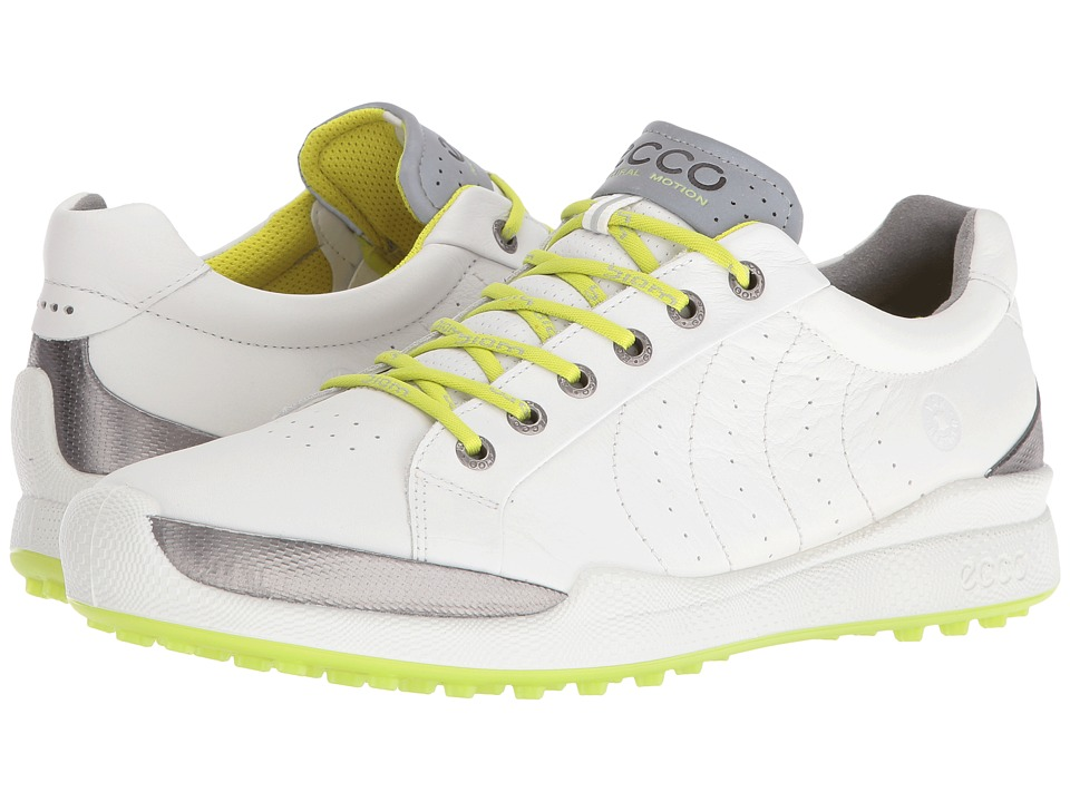 Ecco Golf - BIOM Hybrid Hydromax (White/Lime Punch) Men's...