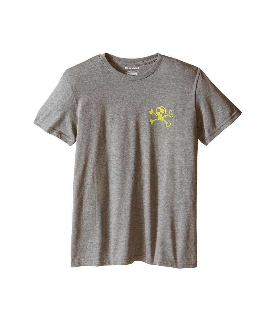 Billabong Kids - OG Billy T-Shirt (Big Kids) (Dark Grey Heather) Boy