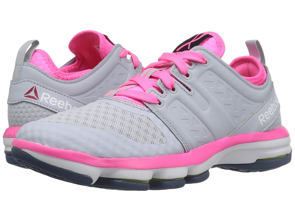 Reebok - Cloudride DMX (Cloud Grey/Poison Pink/White/Royal Slate) Womens Walking Shoes