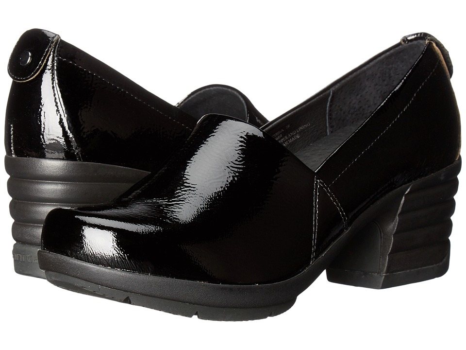 Sanita Icon President (Black Crinkle Patent) Women