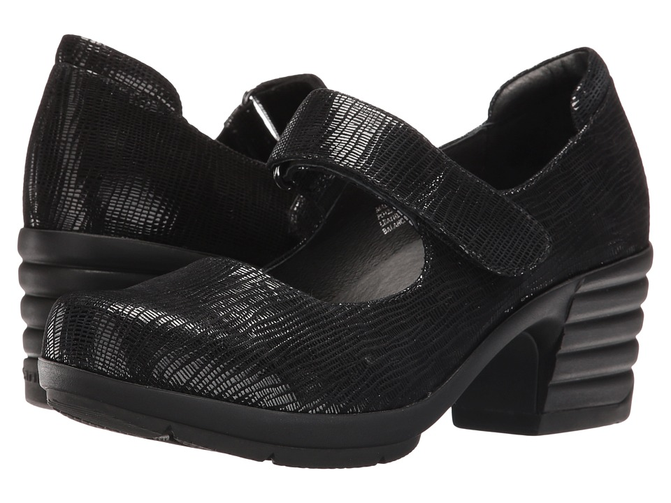 Sanita Icon Commuter (Black Printed Suede) Women